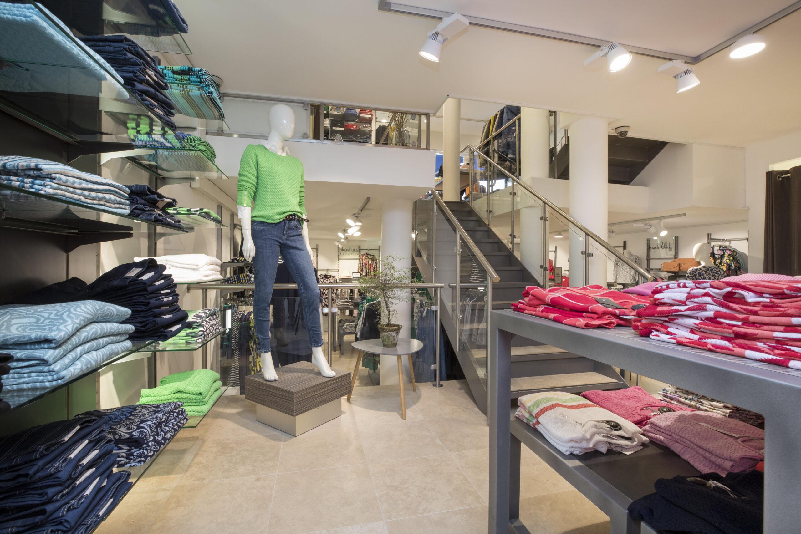 Indretning af tøjbutik